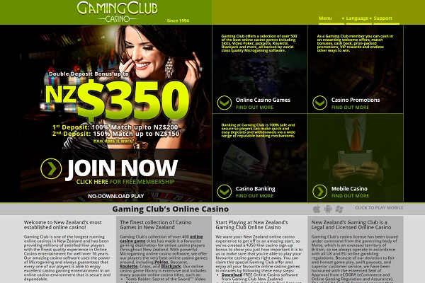 Gaming club NZ