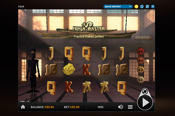 Play Million Ninja Master pokie