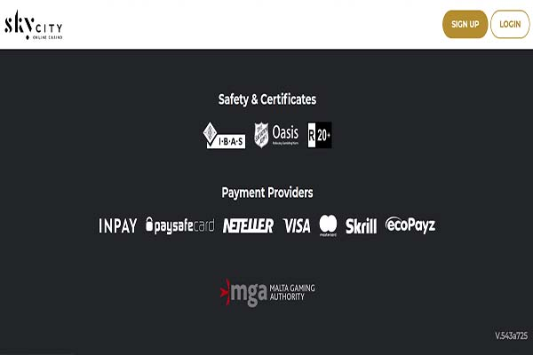 Sky City payment providers
