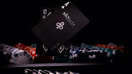 SkyCityu Online Blackjack table and cards