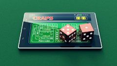 Online Craps on mobile device