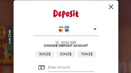 Casoola Casino Deposit NZD screenshot