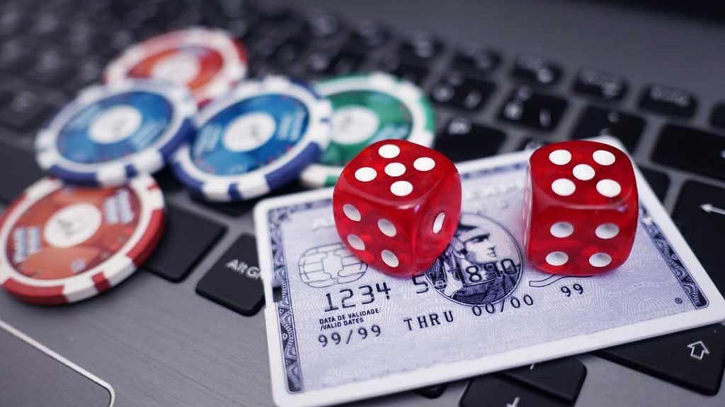 online casino banking laptop with credit card