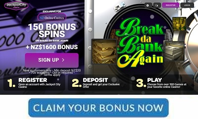 Jackpot City Exclusive 150 Free Spins NZ